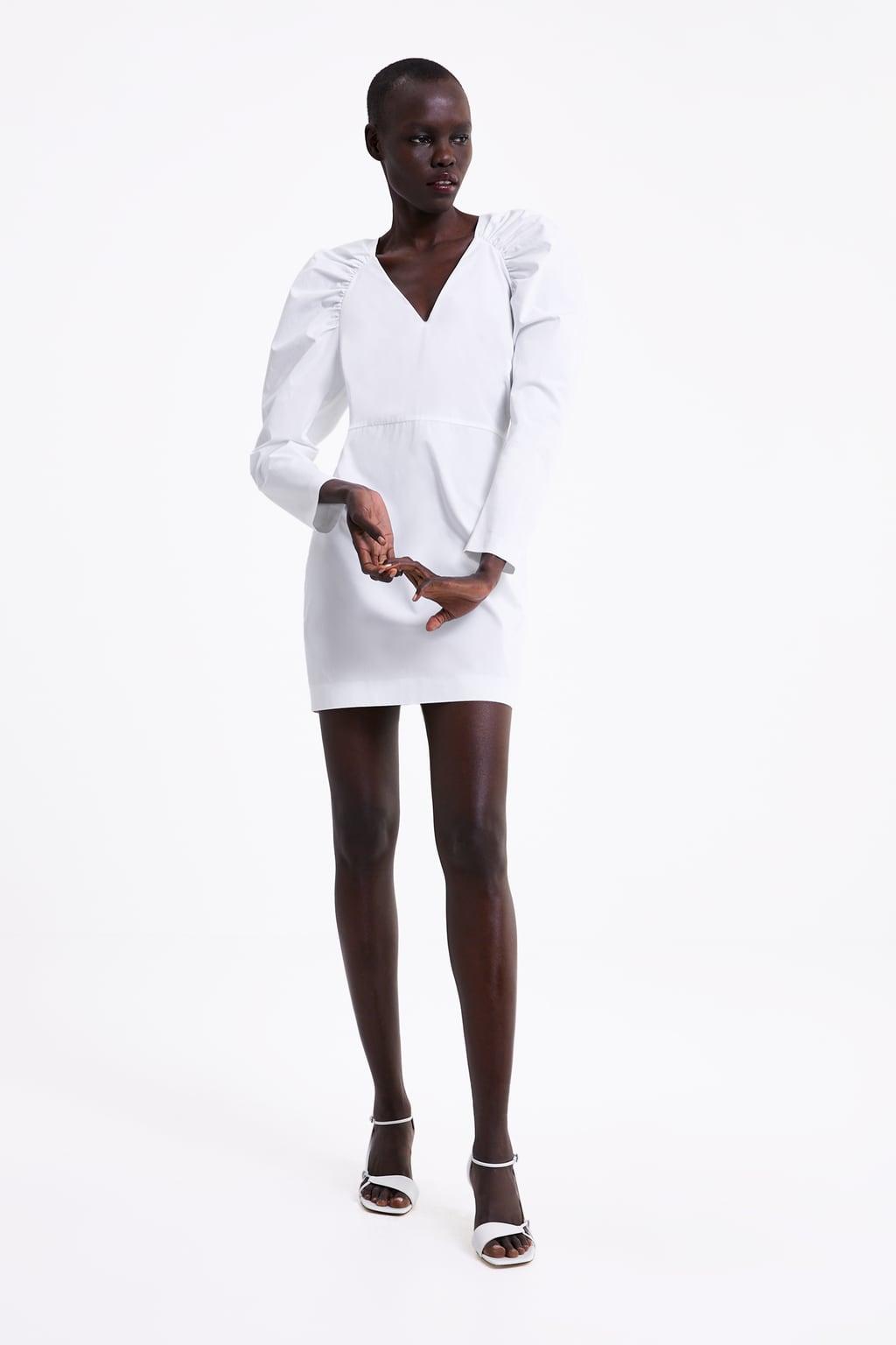 Immagine 1 di VESTITO POPELINE MANICHE A SBUFFO di Zara