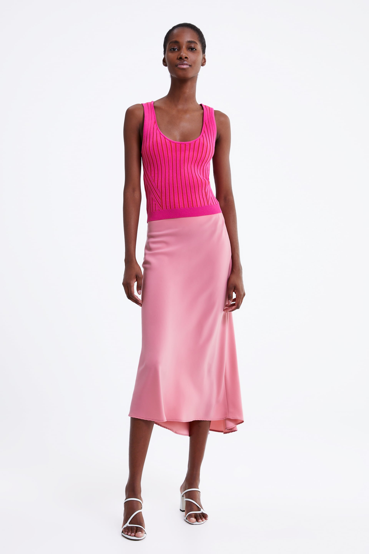 Image 1 of SATIN FINISH SKIRT from Zara