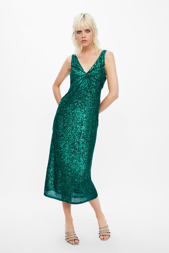 03f4f098 Shoptagr | Sequin Dress With Seam Detail View All Dress Time Woman ...