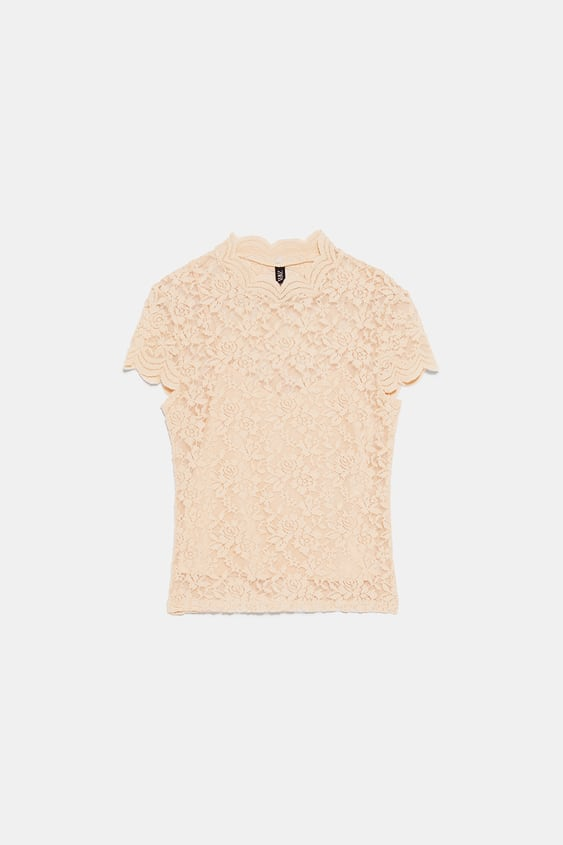 4e491a7b LACE T - SHIRT-View All-T-SHIRTS-TRF | ZARA Italy