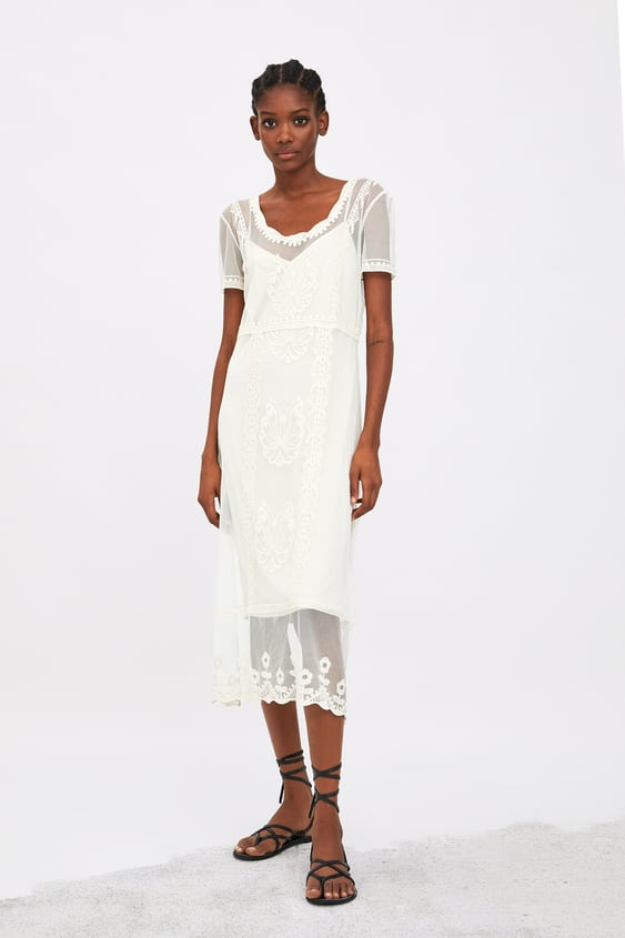 cdf4987647 Image 1 of EMBROIDERED TULLE DRESS from Zara