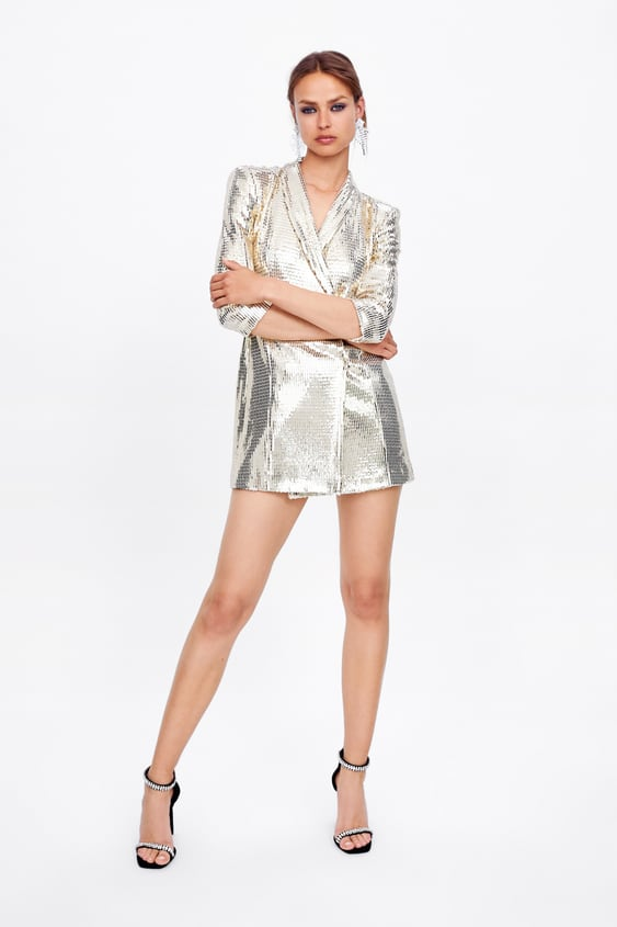 c9187e0ebbd SHIMMER BLAZER DRESS - Mini-DRESSES-WOMAN