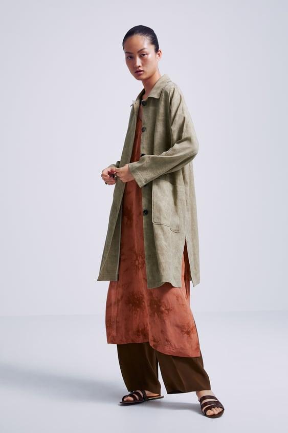 be4c690928 buttoned-frock-coat--outerwearwoman by zara