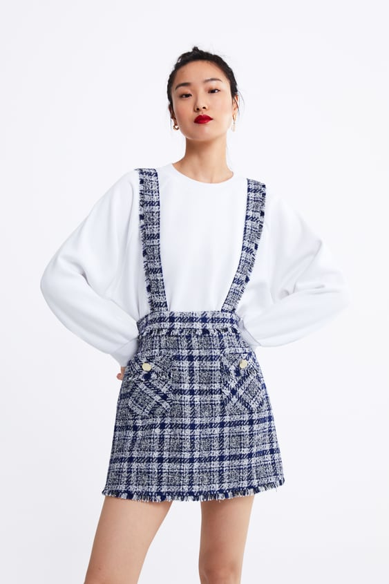 0766aca2e6 CHECKED PINAFORE DRESS - View All-SKIRTS-WOMAN
