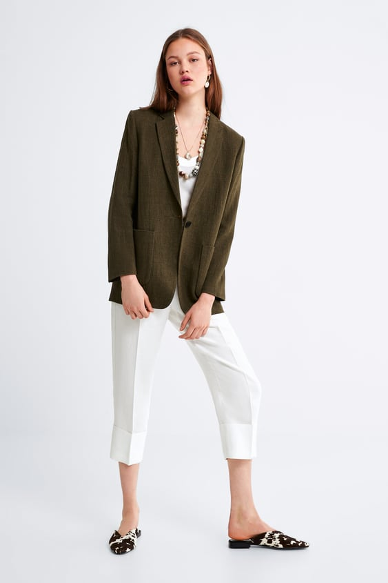 the latest 508f3 d0c50 Image 1 of RUSTIC BLAZER WITH POCKETS from Zara