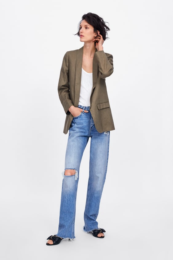 50e13f3a LINEN BLAZER WITH POCKETS - BLAZERS-WOMAN | ZARA Cyprus