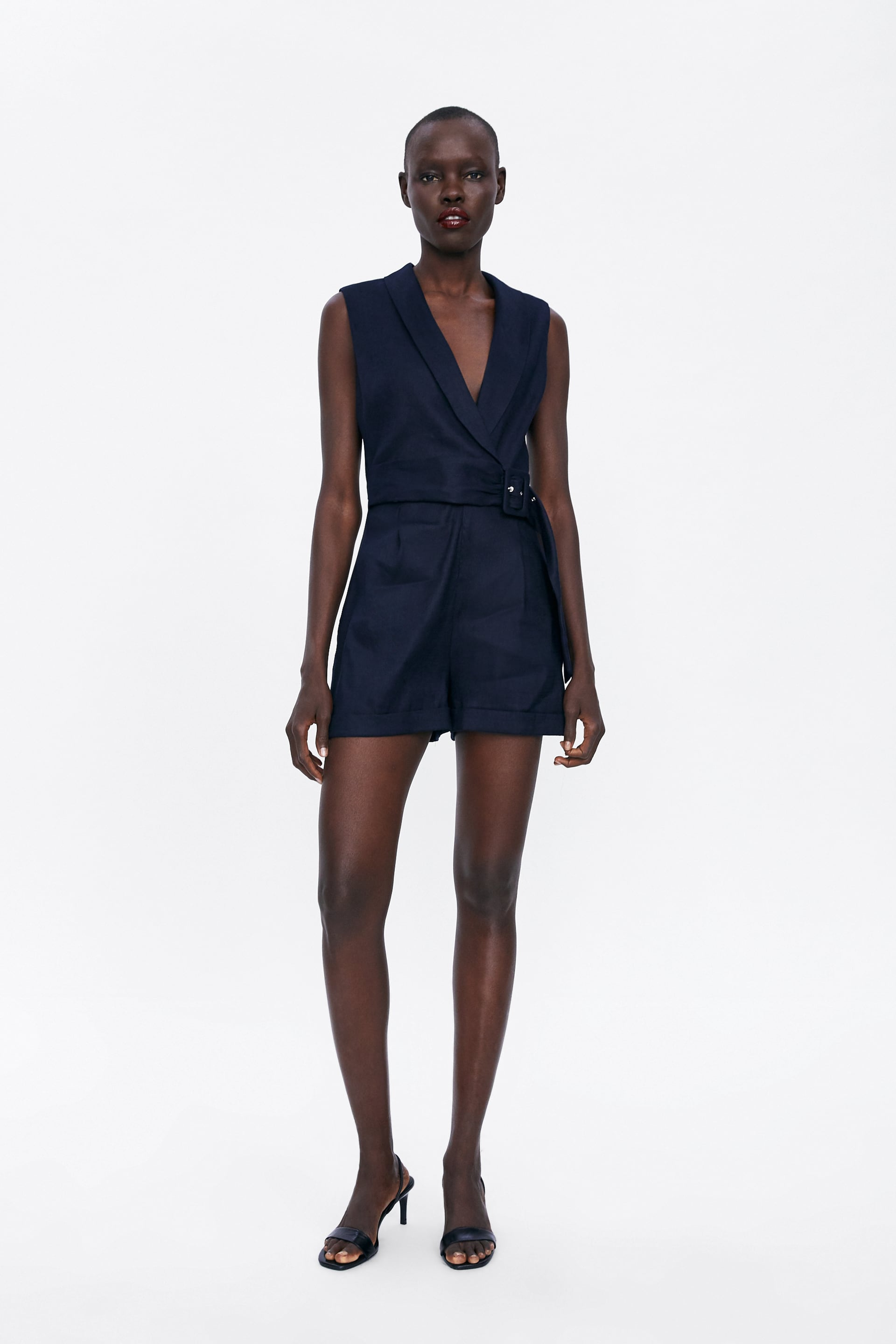 Belted Short Jumpsuit Natural Fibers Product Join Life by Zara