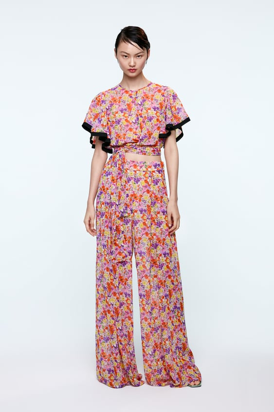 35e1559c PRINTED PALAZZO TROUSERS - FLORAL-SHOP BY COLLECTION-WOMAN | ZARA India