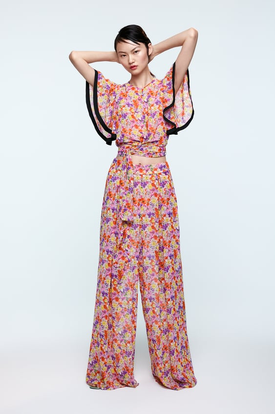 0e390af6ad PRINTED BLOUSE WITH BOW - FLORAL-SHOP BY COLLECTION-WOMAN | ZARA Spain