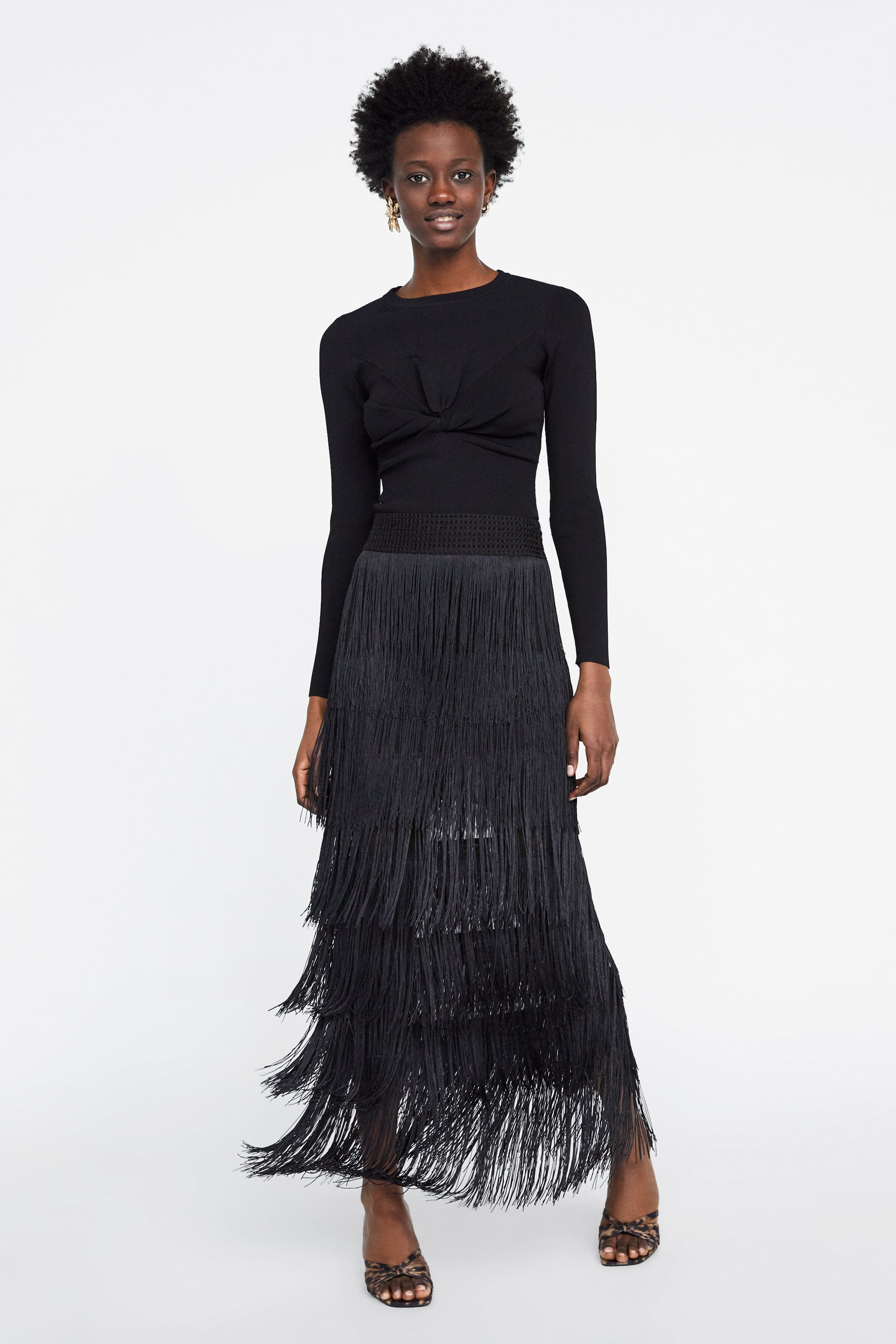Image 1 of SKIRT WITH MATCHING FRINGING from Zara