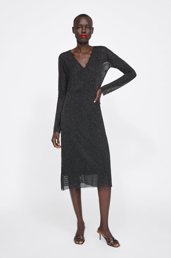 80c67f89e TEXTURED METALLIC THREAD DRESS - View all-DRESSES-WOMAN-SALE | ZARA ...