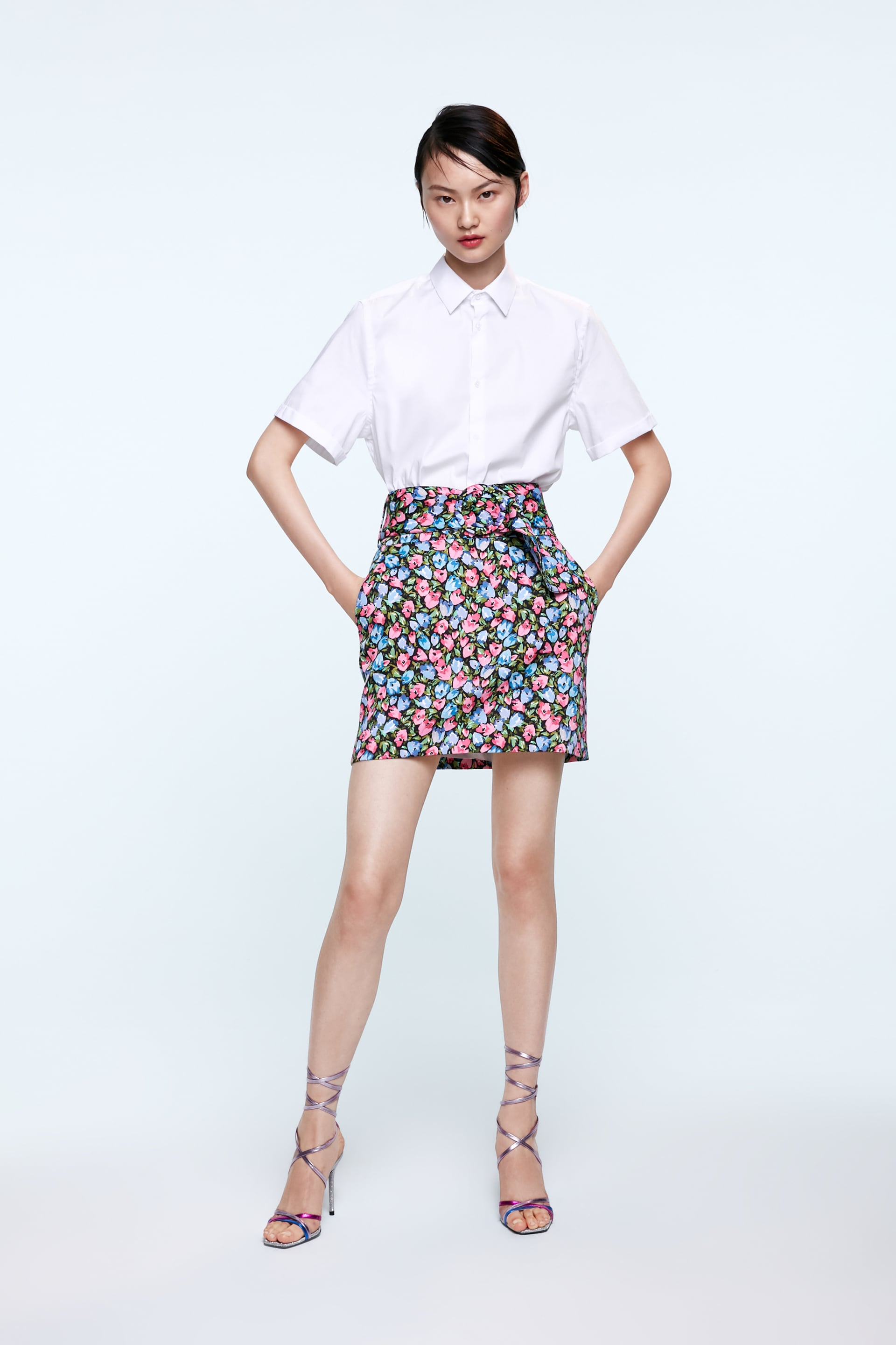 095d049e19 FLORAL PRINT SKIRT - Mini-SKIRTS-WOMAN | ZARA United Arab Emirates