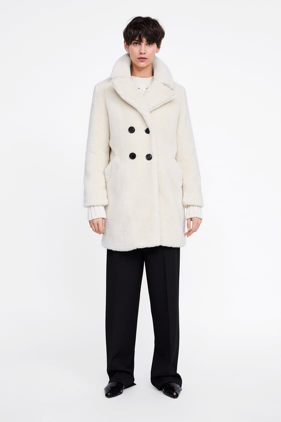 Faux Shearling Coat  Outerwearwoman by Zara