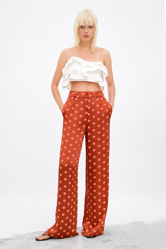 b2786e557785 LIMITED EDITION WIDE LEG POLKA DOT PANTS - Collection-SALE-TRF ...