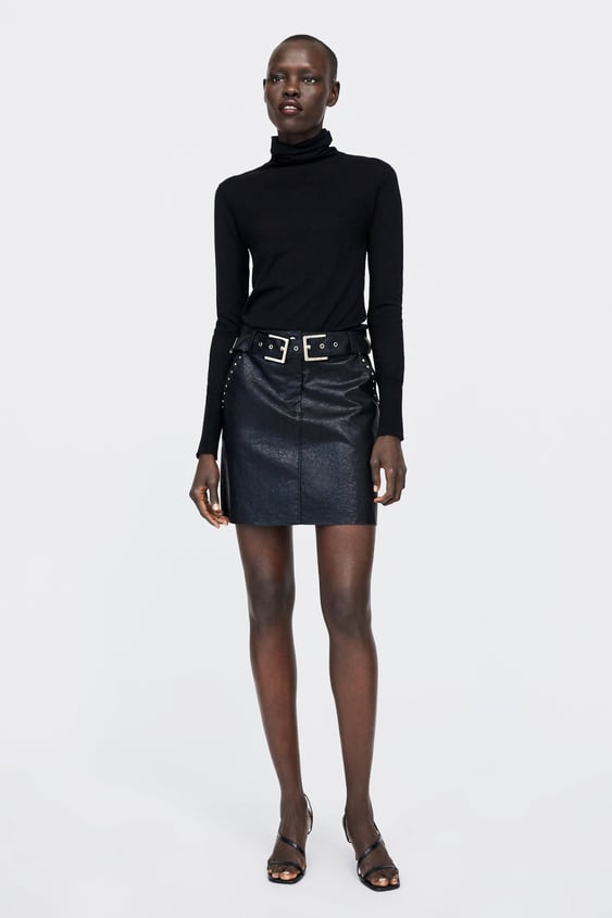 d5007daf9 STUDDED FAUX LEATHER MINI SKIRT - Mini-SKIRTS-WOMAN-SALE | ZARA Ireland