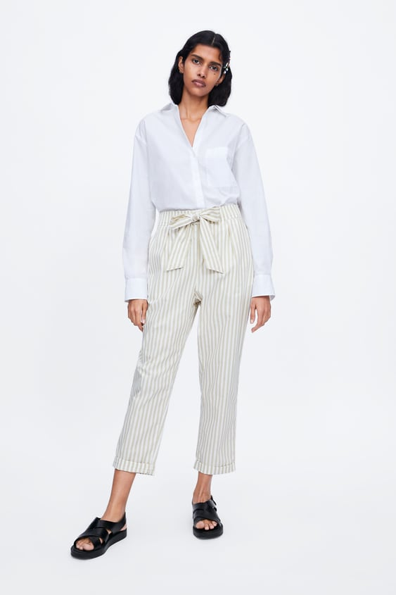 18e2bfb73b STRIPED PANTS WITH TIE BELT - Item available in more colors