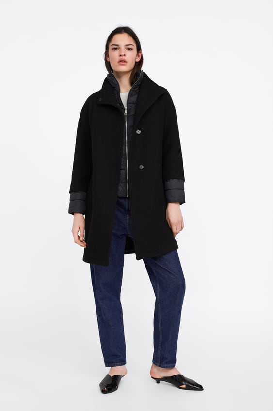 a0b1941ed4 CONTRAST QUILTED COAT