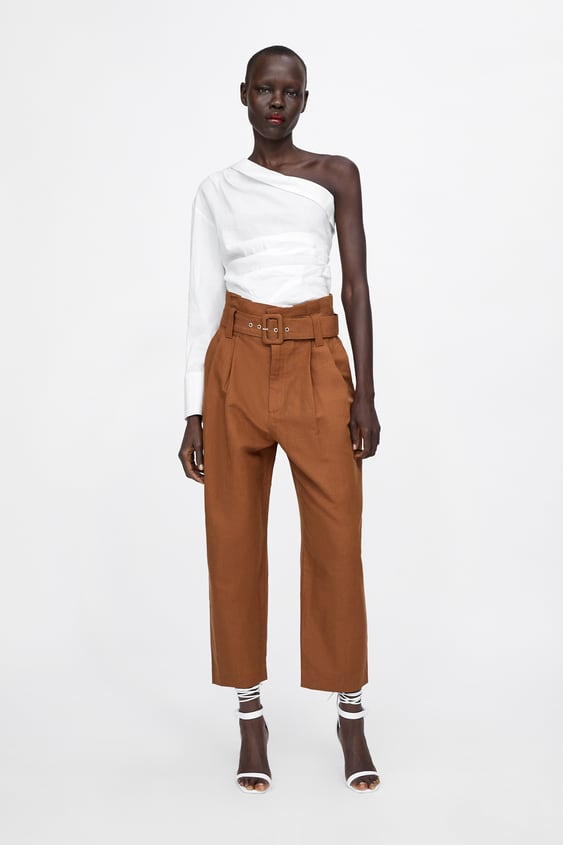 Pleated Pants With Belt  View All Pants Woman by Zara
