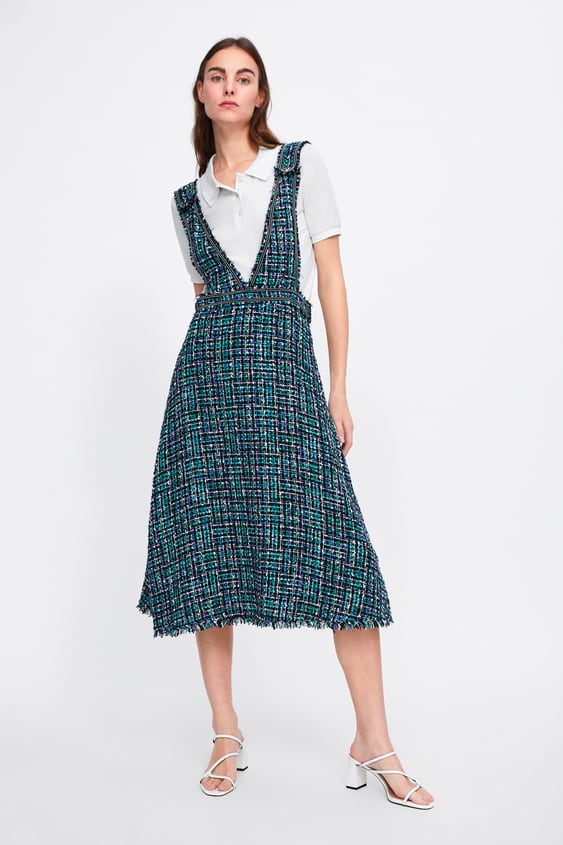 large assortment official supplier hot-selling TWEED PINAFORE DRESS