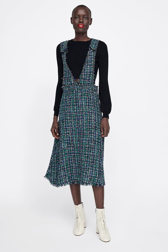 68be714388 Image 1 of TWEED OVERALL DRESS from Zara