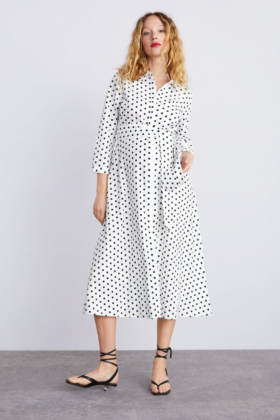 Long Polka Dot Dress Momwoman Corner Shops by Zara d5aebed8faa
