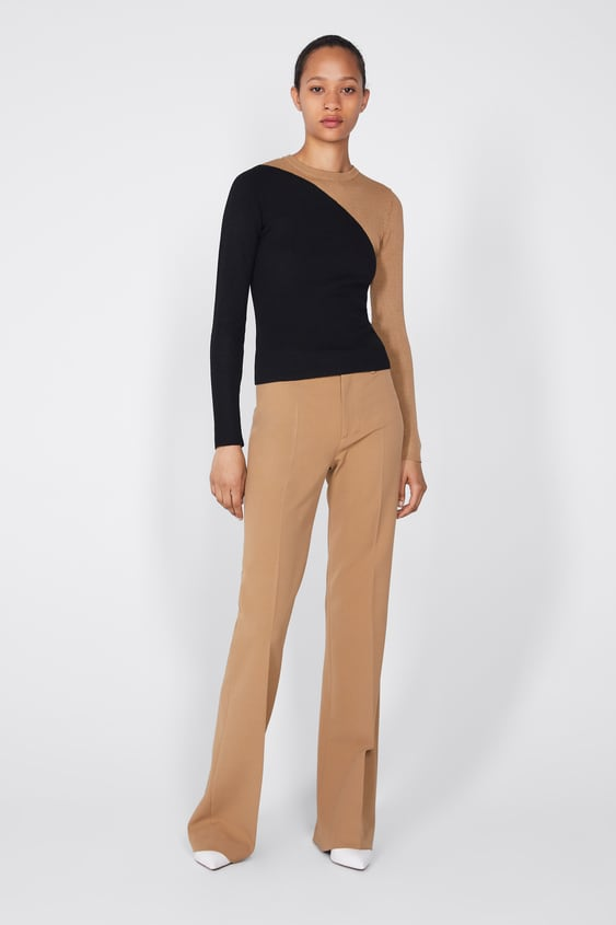 Jersey Color Block  Ver Todo Punto Mujer New Collection by Zara