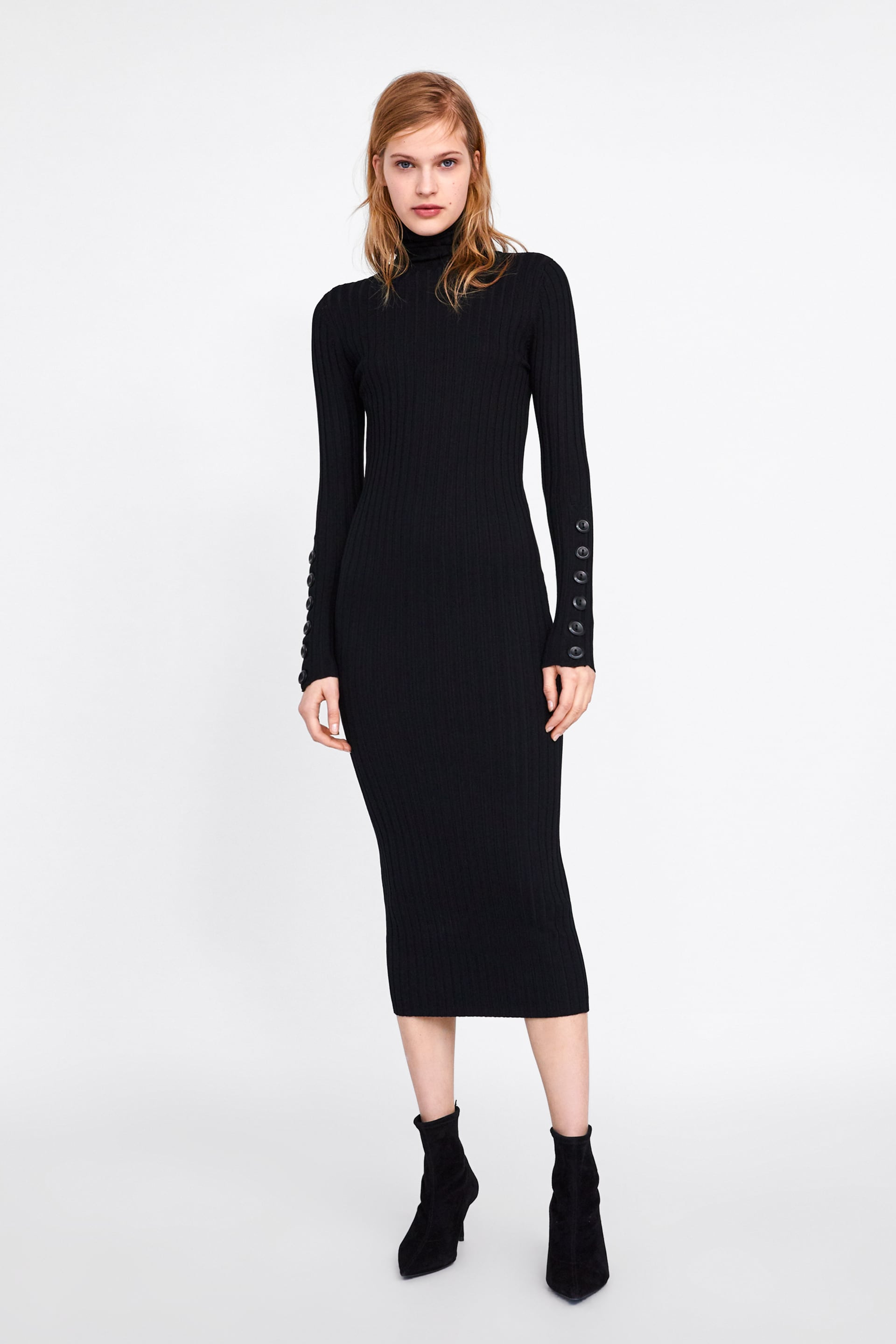 Long Ribbed Dress  Maxi Dresses Woman New Collection by Zara