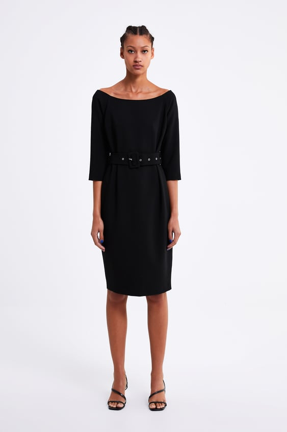 Pencil Dress With Belt Dresses Woman Zara United States