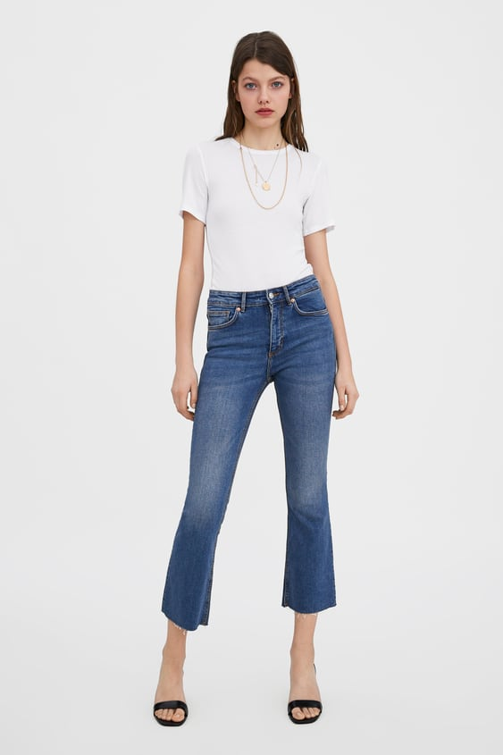 bfa5a73a CROPPED FLARE MID-RISE JEANS - Available in more colours