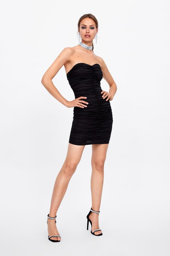 ee48861a DRESS WITH RUCHING - View All-DRESS TIME-WOMAN-CORNER SHOPS-SALE ...