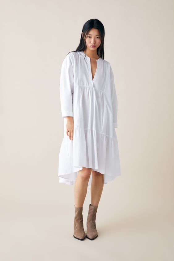 LONG POPLIN DRESS - Available in more colours fa7b86efbf4a