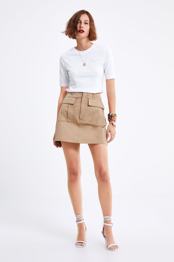 3981d5ae5573f MINI SKIRT WITH POCKETS - Mini-SKIRTS-WOMAN