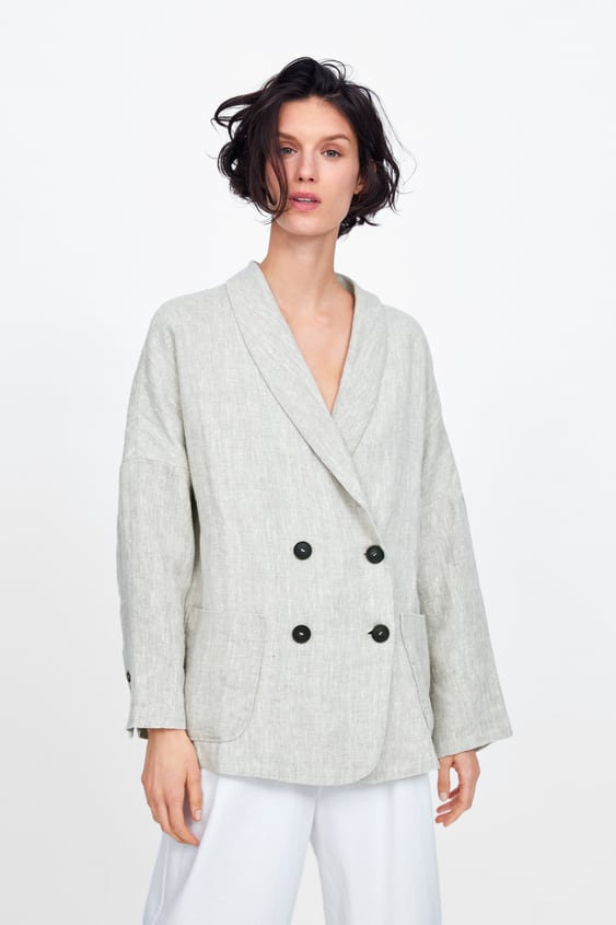 f53138341a2 DOUBLE - BREASTED LINEN BLAZER-JOIN LIFE-WOMAN-CORNER SHOPS