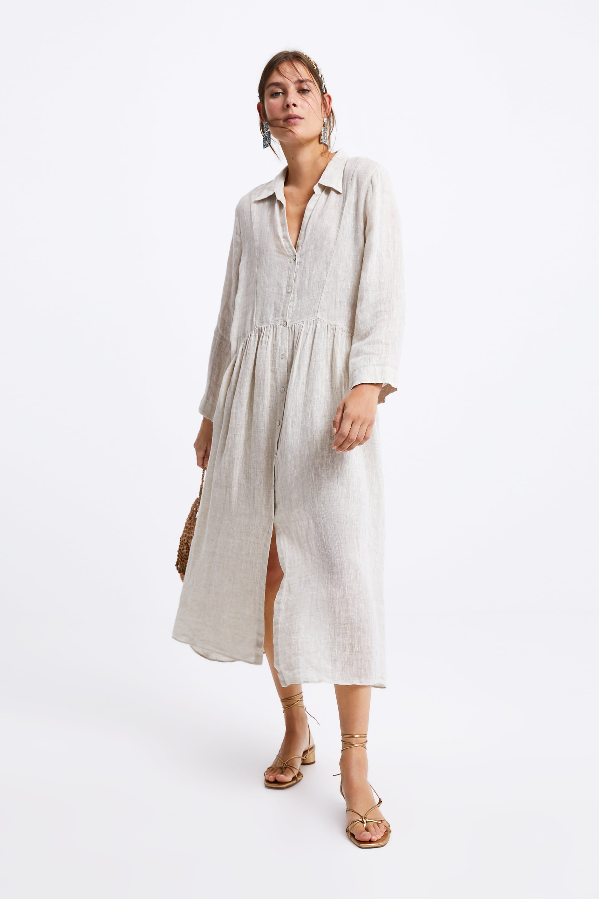 38c3cf73 LINEN DRESS - DRESSES-WOMAN | ZARA Israel