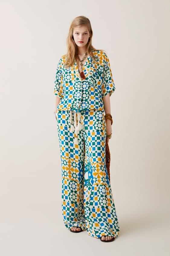 fad8d9a8 LIMITED EDITION ZARA STUDIO PRINTED TROUSERS - Wide Leg-TROUSERS ...