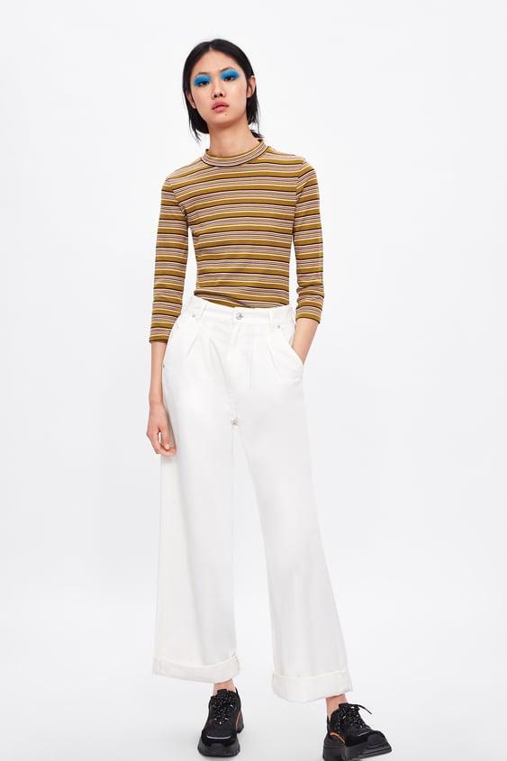 017f874921d485 MOCK NECK TOP - Long Sleeve-T-SHIRTS-WOMAN-SALE | ZARA United States