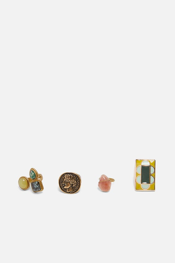 Pack Of Limited Edition Beaded Rings  Accessorieswoman by Zara