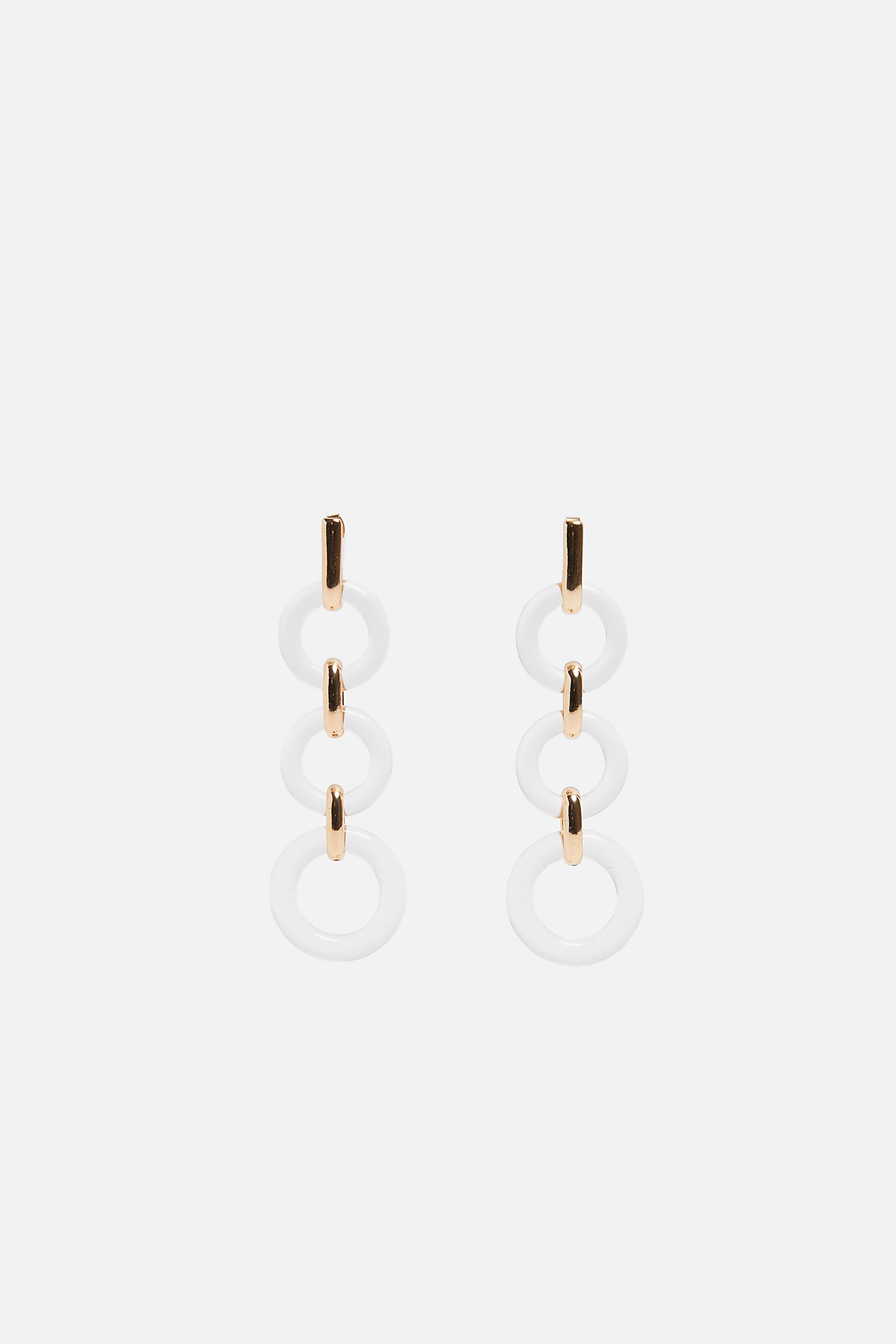 Contrast Ring Earrings  Dress Timewoman Corner Shops New Collection by Zara