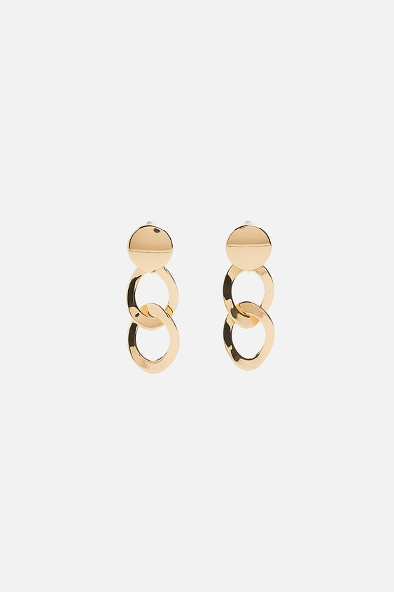 Chain Earrings Tout Voir Accessoires Femme New Collection by Zara