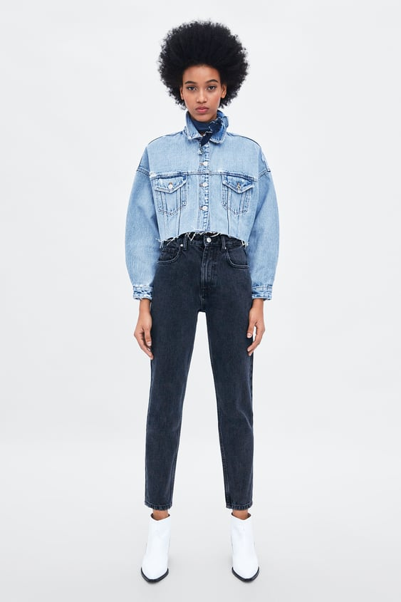 Authentic Denim Mom Fit Jeans  New Inwoman New Collection by Zara