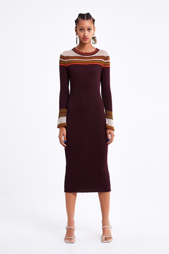 Womens Knitted Dresses New Collection Online Zara United States