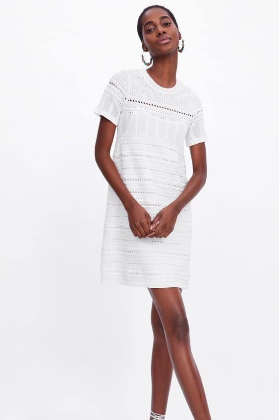 577b8dfd OPEN KNIT DRESS - Dresses-KNITWEAR-WOMAN   ZARA Czech Republic
