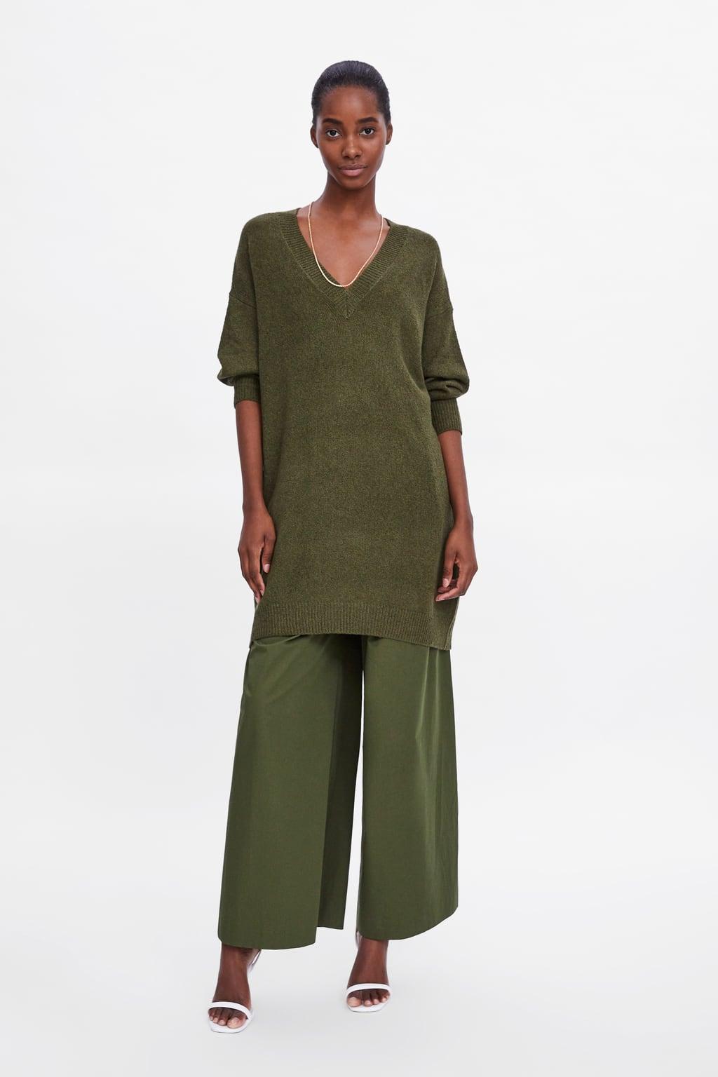 Lange Sweat Trui.Knitwear Jurken Voor Dames Nieuwe Collectie Online Zara Nederland