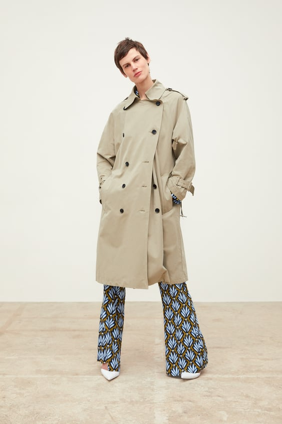 3cd1cb7f Image 1 of WATER-REPELLENT DOUBLE-BREASTED BUTTONED TRENCH COAT from Zara
