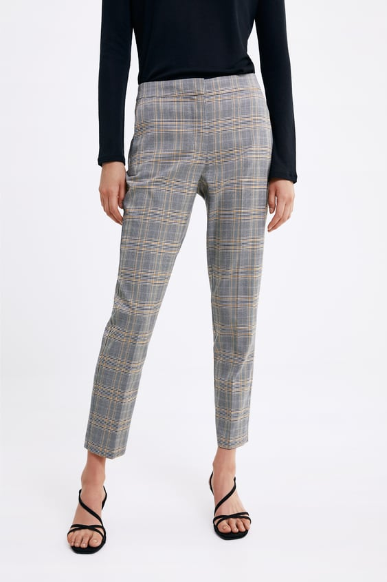 aa12a415adfb CHECK SKINNY TROUSERS - View all-PANTS-WOMAN-SALE | ZARA New Zealand