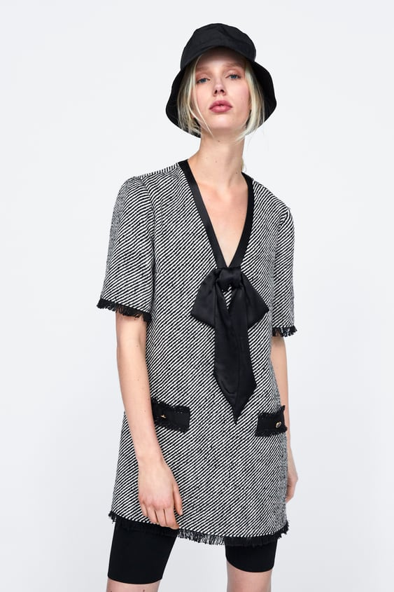 d860a84e TWEED MINI DRESS WITH BOW - DRESSES-WOMAN | ZARA South Africa
