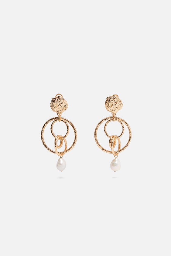 b45ba191704 NATURAL PEARL HOOP EARRINGS