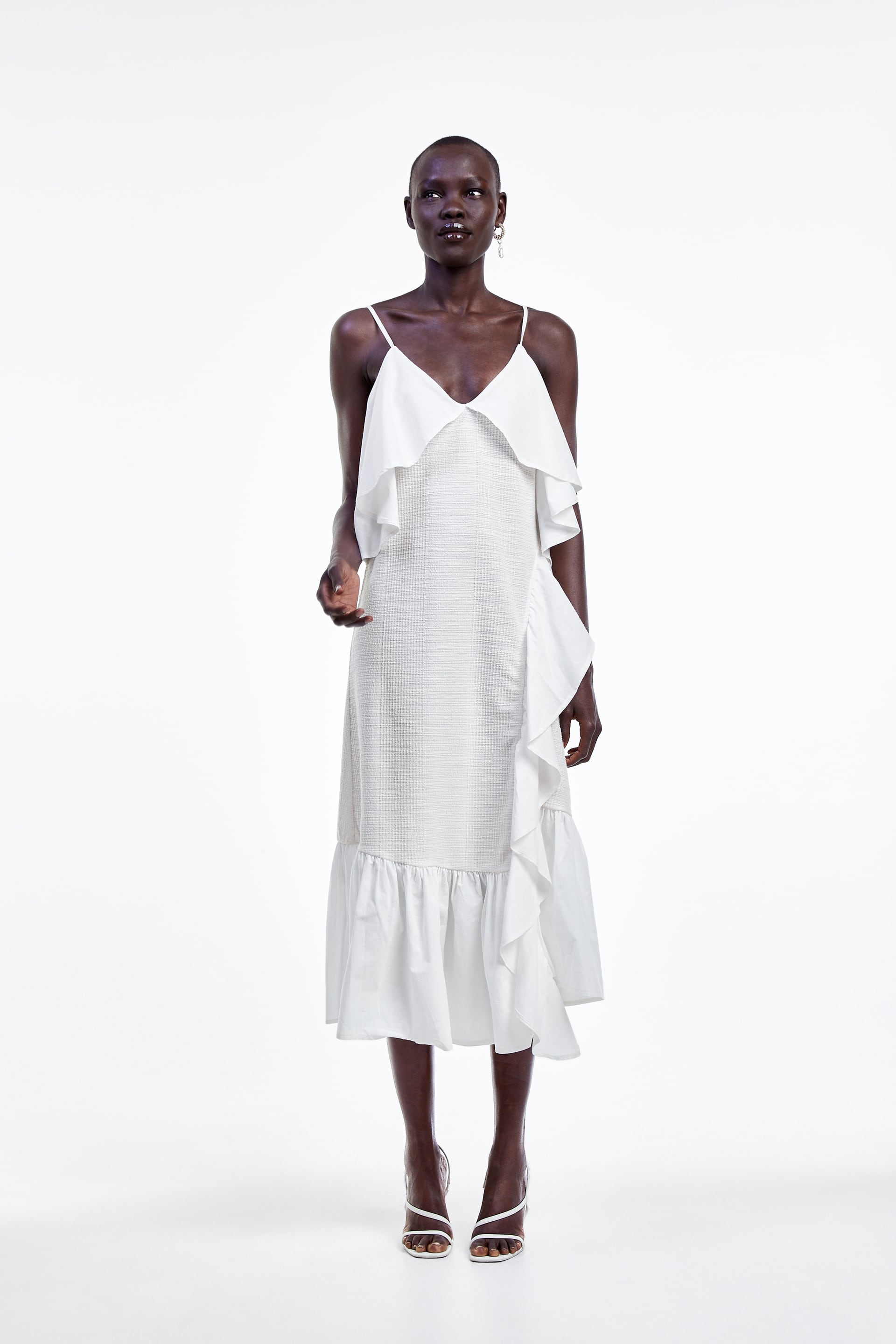 Image 1 of DRESS WITH RUSTIC RUFFLES. from Zara