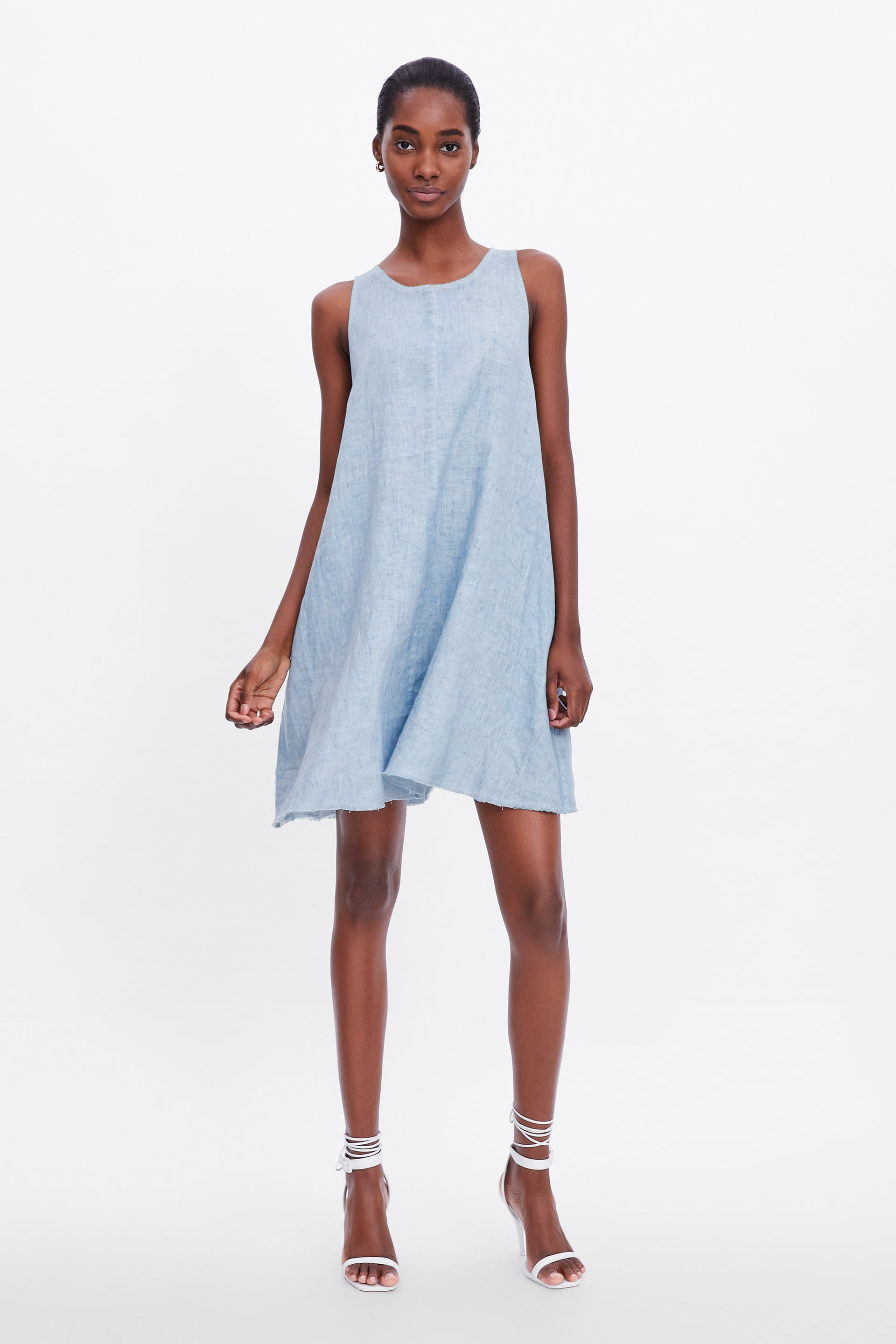 Image 1 of LINEN DRESS from Zara