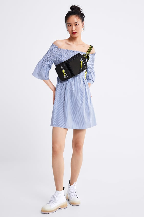 5cdfd4802d Image 1 of STRIPED DRESS WITH SMOCKING from Zara